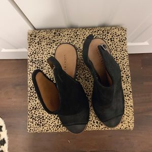 Lucky Brand Shoes - LUCKY BRAND PEEP TOE BOOTIES